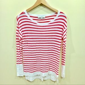 Like New LOFT coral striped Tunic top